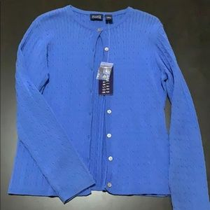 Hillard and Hanson blue cardigan